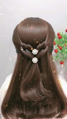 Hairdo For Long Hair, Easy Hairstyles For Long Hair, Headband Hairstyles, Cool Hairstyles, Hair Style Vedio, Bridal Hair Buns, Hair Up Styles, Hair Videos, Hair Hacks