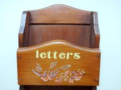 Vintage Wooden Mail and Key Holder Wall Hanging by WylieOwlVintage, $12.00