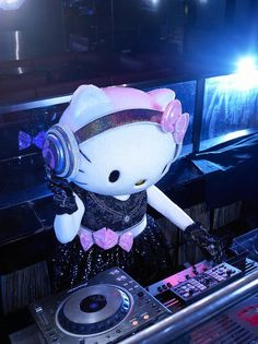 DJ Hello Kitty--- will be there from time to time at the gallery bar space... she's really a rocker deep within...