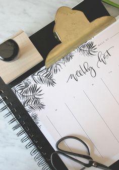 Weekly Calendar Prin