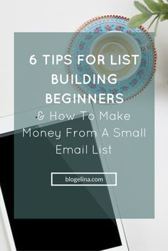 6 Tips for List Building Beginners + How To Make Money From A Small Email List - Blogelina