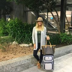 Casual airport outfit! Follow @alexandrachammer on Instagram for more fashion, beauty and lifestyle posts! ♥