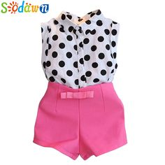 new summer girls clothing sets girl baby clothes polka dot coat + pink pants baby clothing(China (Mainland)) Baby Outfits, Girls Summer Outfits, Summer Girls, Short Outfits, Toddler Outfits, Kids Outfits, Summer Set, Summer Baby, Summer Tops