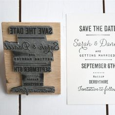 Custom Designed Rubber Stamps great for handmade wedding invitations, save the dates or personal stationery by Lucy says I do on Etsy