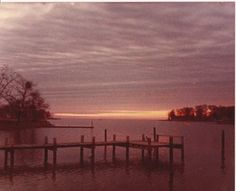 The pier at Momma's house in Churchton Maryland. Our original home base.
