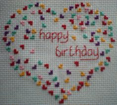 Heart of Hearts Cross Stitch Card Kit Valentine, Birthday and Anniversary