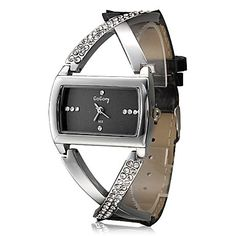 Soleasy Womens Quartz Watch Fashionable Cross Style Diamante PU Band Analog Wrist Watch >>> You can find more details by visiting the image link. Patek Philippe, Casual Watches, Cool Watches, Unique Watches, Women's Watches, Devon, Swarovski, Omega, Groomsmen
