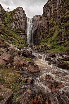 The Wailing Widow Waterfalls, Scotland.