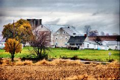 Amish Farmhouse Lancaster County Pennsylvania Farm Autumn