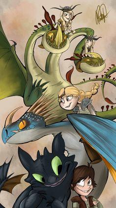 Dragons by VivzMind.deviantart.com on @DeviantArt