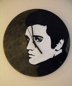 Hand Painted Elvis Vinyl Record Clock. Order via my Etsy shop here: https://www.etsy.com/uk/shop/RetroArtPop