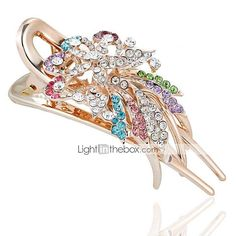 details about new rhinestones crystal silver tone metal flower
