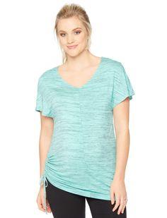 Motherhood Maternity Short Sleeve V-neck Side Tie Maternity Shirt
