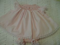 Smocked Diaper Set with Monogramme NB to by BaileighsBoutique, $45.00