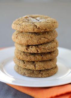 Pumpkin Gingersnap Cookie Recipe on twopeasandtheirpod.com