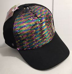 45aa0ce10df Jojo Siwa Claire s Sequin Baseball Snapback Girls Dance It Out Hat Cap  Black  JojoSiwa