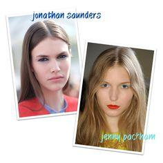 Blue shadow beauty NYFW SS16 #ss16 #nyfw #blue #shadow #makeup #beauty #ritaheroina