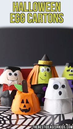 halloween costumes pregnant HALLOWEEN EGG CARTON CRAFTS - these fun Halloween egg cartons are so easy and fun to put together! You can make a pumpkin, ghost, witch, vampire or Frankenstein! Halloween Arts And Crafts, Halloween Crafts For Toddlers, Halloween Tags, Easy Christmas Crafts, Easy Crafts For Kids, Diy Halloween Decorations, Toddler Crafts, Preschool Crafts, Diy Crafts