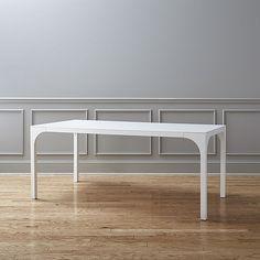 $499 - CB2  Seats up to eight; six comfortably table aqua virgo dining table | CB2