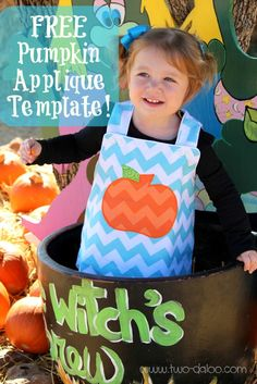 Chevron outfits and free pumpkin applique template