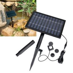 Solar Power Fountain Pond Brushless Water Pump w/ 1600mA Storage Battery by Santai. $91.99. On / off switch at the back of solar panel for added convenience. The solar panel can be tilted to maximize sun exposure. 3 spray nozzles are included. Features 1600mAh built-in rechargeable battery for power back-up. Easy to assemble and set up with 3-section pole that can be easily planted into ground. This solar water pump makes use of the unlimited solar energy to power you...