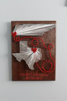 Custom Double State String Art 9x12 by MadeOfTheStars on Etsy, $40.00
