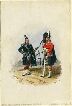 Princess Louise's Argyll & Sutherland Highlanders, c. Edwardian Era, Victorian, Red Coats, Princess Louise, British Uniforms, Highlanders, Great Britain, Empire, Military