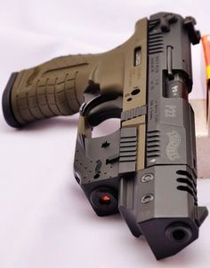 Walter Arms P22 Semi-Automatic .22LR 10rd with Flash Suppressor, Laser Dot Sight, & Three-Dot Polymer Sights
