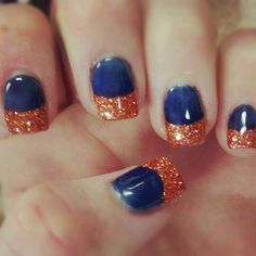 #Auburn Spirit, even on our fingernails.  #NCAA #CollegeFootball  For Great Sports Stories, Funny Audio Podcasts, and Football Rules Tutorial www.RollTideWarEagle.com