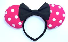 Minnie Mouse Ears Handmade  Mouse Ears  Disney by WisheryEarMakers