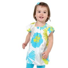 Carters Girls 12-24 Months White Flower Knit Tunic
