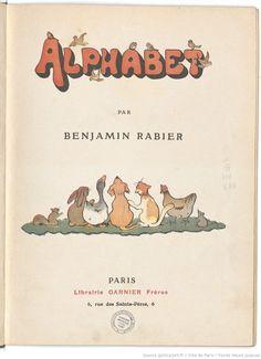 Alphabet / par Benjamin Rabier, collections numérisées dans Gallica, Fonds Heure Joyeuse (Paris)