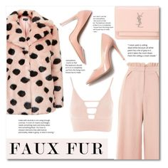 """""""Wow Factor: Faux Fur"""" by franceee ❤ liked on Polyvore featuring Michael Kors, Topshop, Yves Saint Laurent and M. Gemi"""