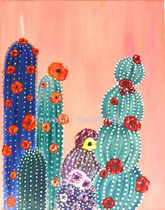 A Comprehensive Overview on Home Decoration Cactus Wall Art, Cactus Decor, Cactus Cactus, Art Original, Original Paintings, Cactus Drawing, Desert Art, Guache, Art Mural