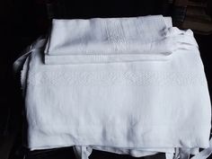 White Pre-Washed and Softened Linen Duvet Cover by LinenFactory