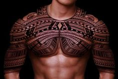 Looks like armor! Polynesian tattoo