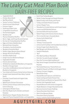 75 Recipes in The Leaky Gut Meal Plan book leakygut leakygutdiet guthealth dairyfree dairy-free recipes Health Diet, Health Cleanse, Health Logo, Health Goals, Health Facts, Health Quotes, Health Motivation, Mental Health, Health Care
