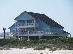 Photo Gallery Beach House Rental * Beach Home Blue Paradise for Rent at Crystal Beach Texas