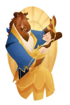 For his Disney Challenge project, Rafael Mayani watched every animated film ever produced by Disney, and then created an illustration based on each feature. BEAUTY AND THE BEAST - 1991 Disney Fan Art, Disney Princess Art, Disney Love, Disney Princesses, Disney Couples, Disney Belle, Princess Belle, Disney Magic, Disney Amor