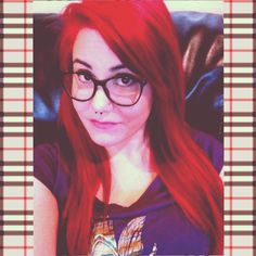 I finally did it!! Ariel hair!!! Hipster Ariel ? Lol jk - definitely not a hipster! They didn't invent thick rimmed glasses, you know!!! (Even though they think they invented everything...) ;P But I digress - I love this hair!!!   Bright red little mermaid Disney princess hair septum piercing nose ring alternative Burberry glasses