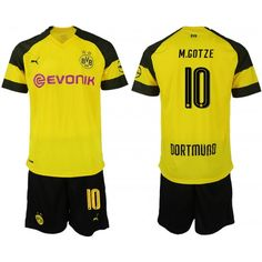 f5dc2d0c3 Best 2018-19 Football Kits Borussia Dortmund 10 M.Gotze Home Yellow Black Football  Jerseys