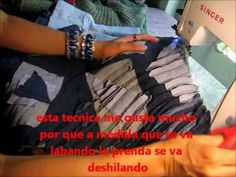 tutorial como reciclar un sueter viejo en chaleco utilizando la tecnica de chenelle.wmv - YouTube Crafting, Singer, Videos, Youtube, Tela, Old Sweater, Couture Facile, Sew, Recycling