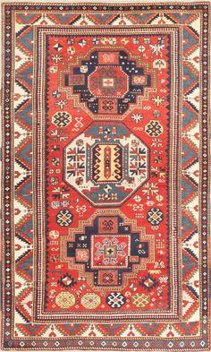 Antique Tribal Caucasian Kazak Rug 46350 Main Image - By Nazmiyal  http://nazmiyalantiquerugs.com/antique-rugs/antique-caucasian-rugs/antique-tribal-caucasian-kazak-rug-46350/