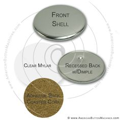 3.5″ Coaster Button Sets available in quantities of 100, 500 or 1,000 #coasterbuttons #coasters