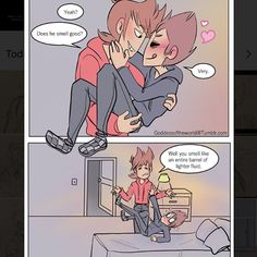 Part 3! [credit to goddessoftheworld on tumblr ¯_(ツ)_/¯] • *DISCLAIMER: I'm probably going to start doing comics one by one since it's better quality >//< • • Tags~ #wat #eddmatt #eddsworld #tordtom #tomtord #comic #eddsworldcomic #ship #otp #cute #ew