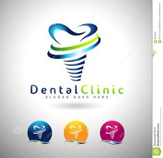Dental Implants Logo Stock Vector - Image: 58253635