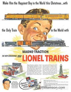 Lionel model trains for Christmas