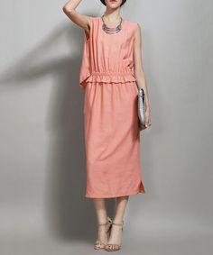 Pink ruched detail midi dress Sale - VANILLA CHOCOLATE Sale