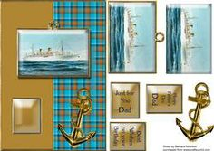 View White Ocean Liner and Anchor with Tartan Details