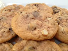 As simple as they are, you can't go wrong with a classic chocolate chip cookie with almonds! classicookies2go@gmail.com #baking #yum #wednesday #cookies #treats #gifts #meetings #events #kitchen #fall #holidays